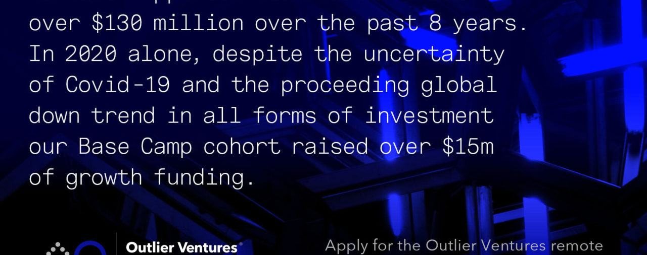 Outlier Ventures is closing application for startup accelerator, soon!